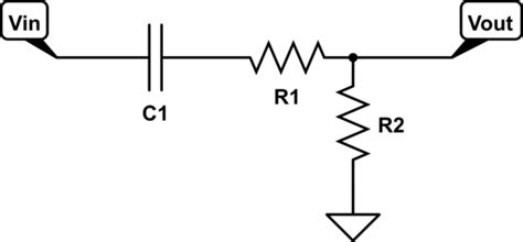 calculate resistor high pass filter what is the purpose of this simple 1 capacitor 2 resistor high pass filter electrical