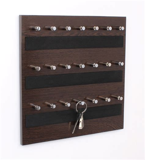 key holder wall regis wall mounted key chain holder board skywood wenge