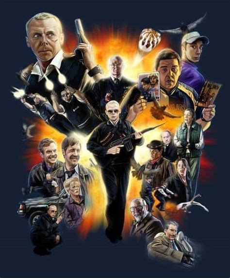 funny movies like hot fuzz hot fuzz fan art poster funny action movies