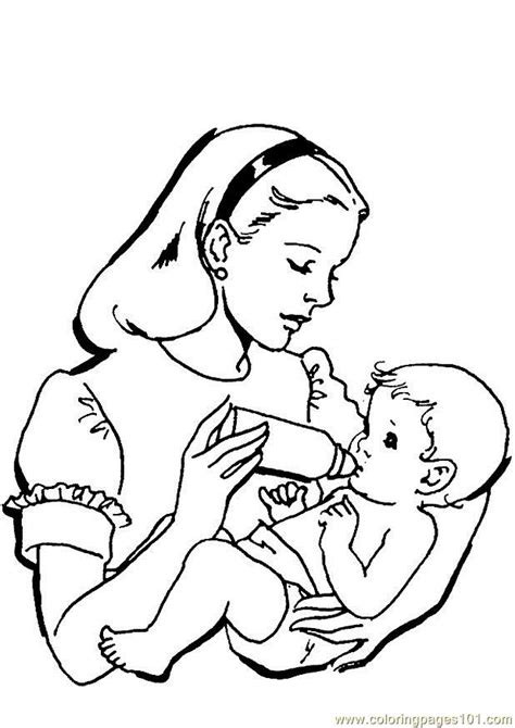 mom and baby coloring pages coloring pages
