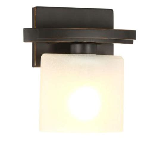 oil rubbed bronze sconces for the bathroom hton bay ettrick 1 light oil rubbed bronze sconce