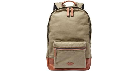 Bag Fossil W6160 Sw fossil estate canvas backpack in green for lyst
