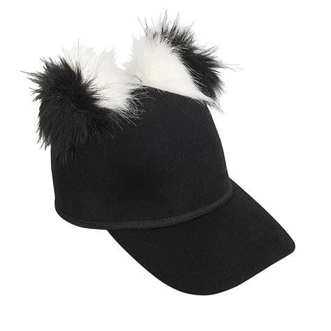 Pom Pom Cap faux fur pom pom cap in black lyst