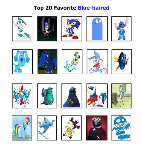 favorite blue cody s top 20 favorite blue haired by cartoonfanboyone on