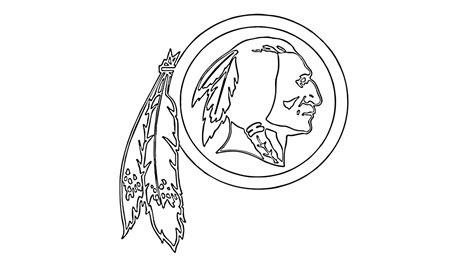 nfl redskins coloring pages como desenhar o escudo do washington redskins nfl how