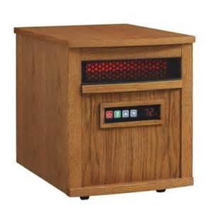 electric heaters home depot duraflame 1500 watt electric infrared quartz heater oak