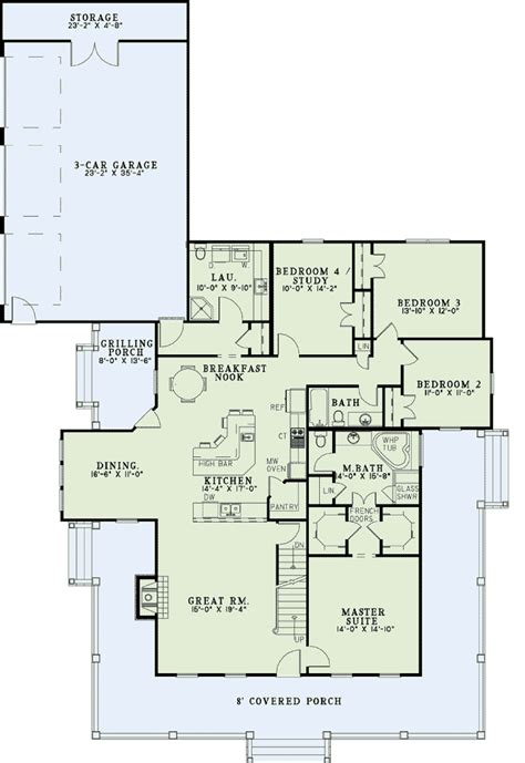 Country Farmhouse Floor Plans | house plan 62207 at familyhomeplans com