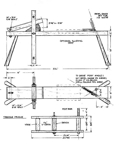 drawing horse bench plans draw knife bench shave horse wood work pinterest