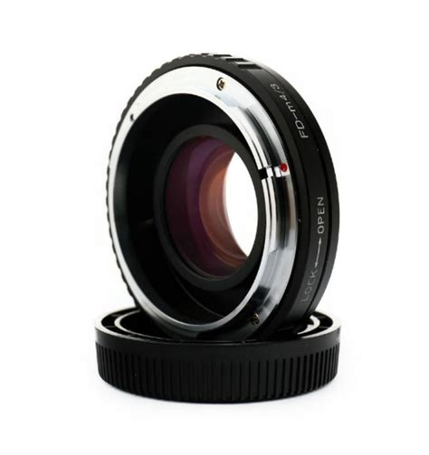 Cap Olympus M43 Mount Kode Vc13035 2 focal reducer speed booster adapter canon fd mount lens to