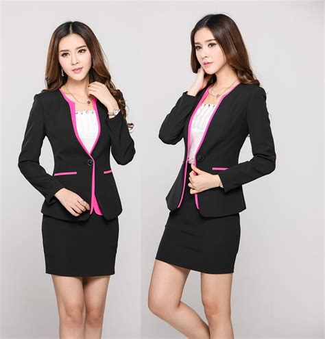 executive suits for working women 2015 new 2015 autumn winter uniform office work wear suits with