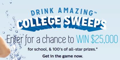 College Sweepstakes - brita drink amazing college sweepstakes sun sweeps