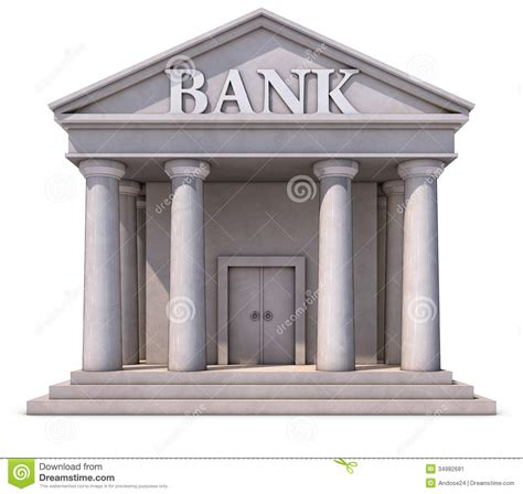 d bank banking bank building stock image image 34982681