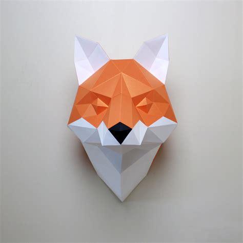 cecilia  fox diy paper craft animal kit resident