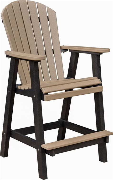 Outdoor Adirondack Bar Stools by Berlin Gardens Comfo Back Outdoor Poly Bar Stool From