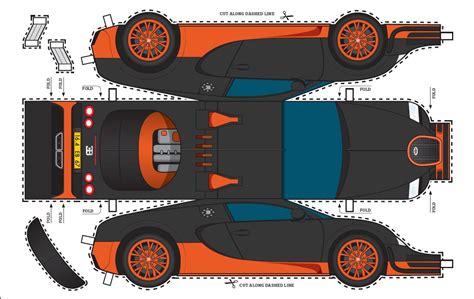 Bugatti Veyron Papercraft - bugatti veyron sport blueprints
