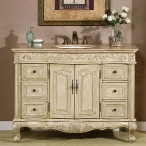 48 quot cortona single bath vanity antique white