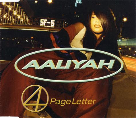 Aaliyah 4 Page Letter Remix