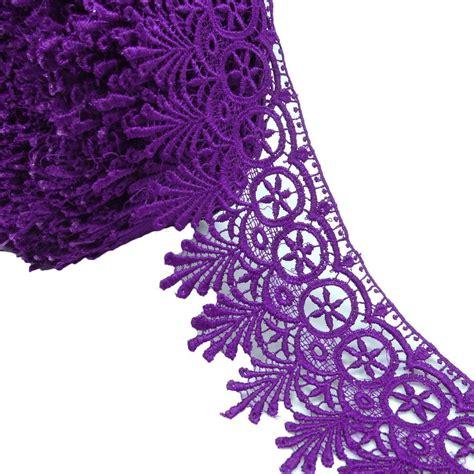 dress embellishment venise lace purple decorative trim