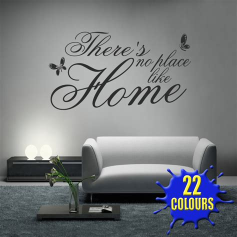 Living Room Wall Quotes Uk There S No Place Like Home V2 Wall Decal Sticker Quote