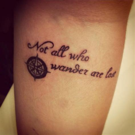 not all who wander are lost tattoo top gallery elvish images for tattoos