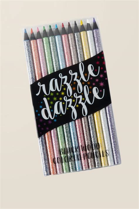 razzle dazzle glitter colored pencils s