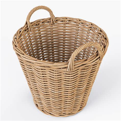 rattan basket ikea rattan creativity rattan baskets wicker basket ikea nipprig 3d model