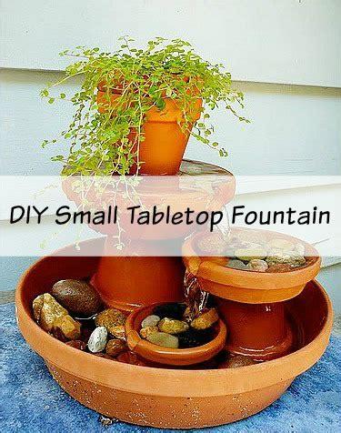 diy small fountain  clay pots
