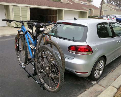 Bike Rack For Vw Golf by Thule Doubletrack On Our 2013 Golf Tdi Greentdi