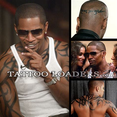 jamie foxx head tattoos photos fox junglekey fr image