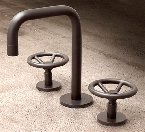 industrial bathroom faucets brooklyn bath faucet by watermark industrial style