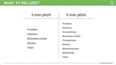 pitch template pitch template startupadvisor
