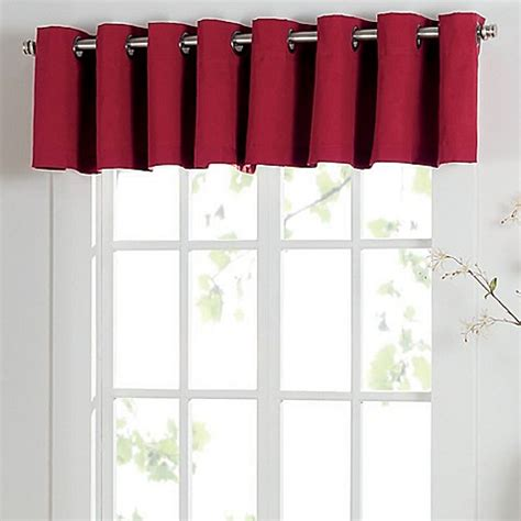 red grommet drapes buy newport grommet window curtain valance in red from bed