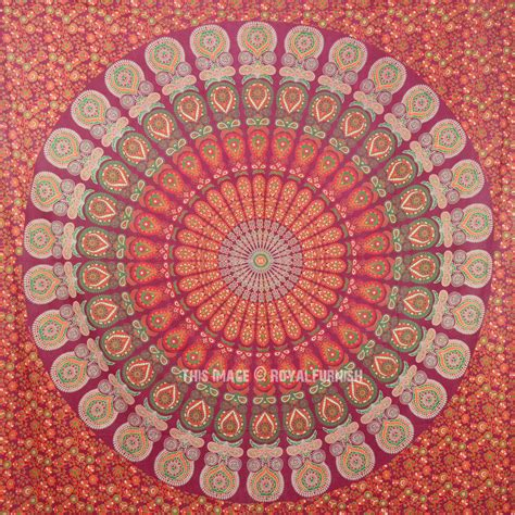 indian psychedelic mandala tapestry wall hanging hippie