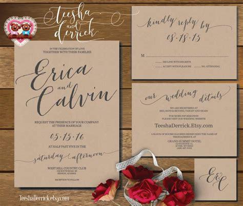 rsvp wedding invitations vancouver printable wedding invitation suite w0360 consists of