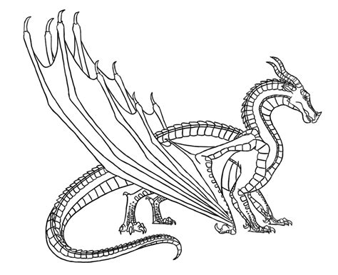 wings of fire dragons coloring pages sketch coloring page