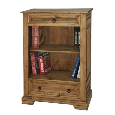 Small Bookcase With Drawers Segusino Mexican Pine Furniture Segusino Mexican Bookcase