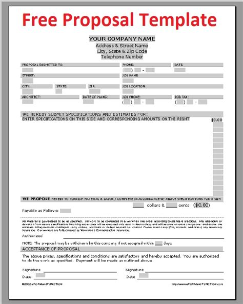 free bid template business letter sle november 2012