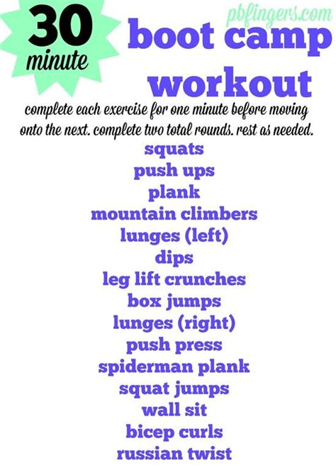 30 minute boot c workout boot c workout boot c