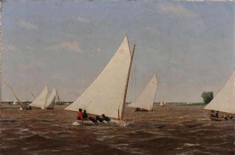 boat canvas delaware thomas eakins sailboats racing on the delaware 1874 oil on