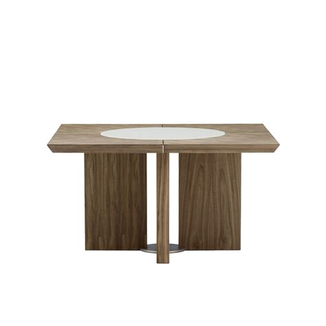 Square Walnut Dining Table Midollo Walnut Square Dining Table Beyond Furniture