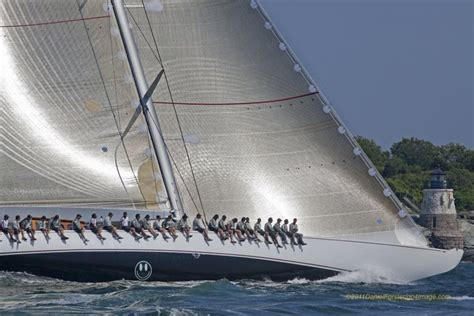 j boats racing in newport j class yachts bystander ranger and velsheda 2011