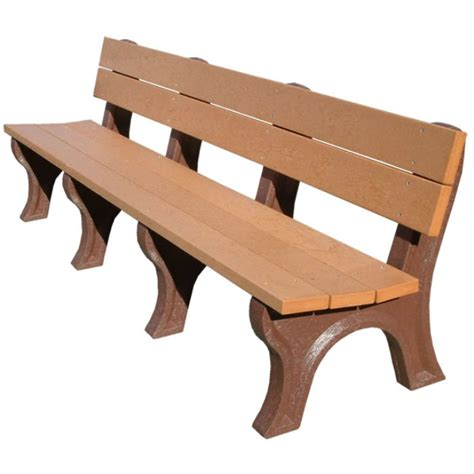 8 foot bench 8 foot economizer traditional park bench recycled