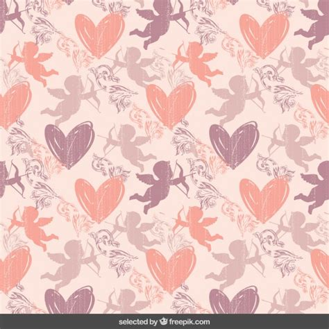 pattern cute pink vector cute pink valentines pattern vector free download