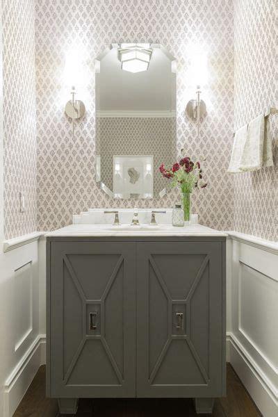 custom vanity wainscoting wallpaper sconces powder