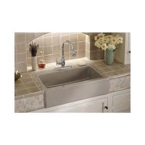 Kitchen Bar Sinks Dickinson Tm Apron Front Tile In Kitchen Sink With Four Faucet Drilling K 6546 4 From Kohler 174