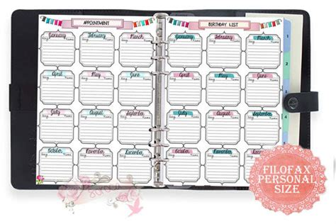 8 best images of 2015 filofax personal printable pages 8 best images of 2015 personal size filofax free