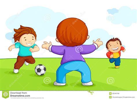 clipart bambini giocano bambini giocano calcio illustrazione vettoriale