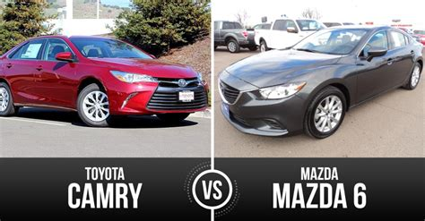 mazda full size sedan top mid sized sedan mazda mazda6 vs toyota camry