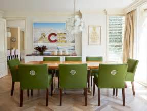 Dining Room Table With Green Chairs Stylish Upholstered Dining Chairs For Easy Design And