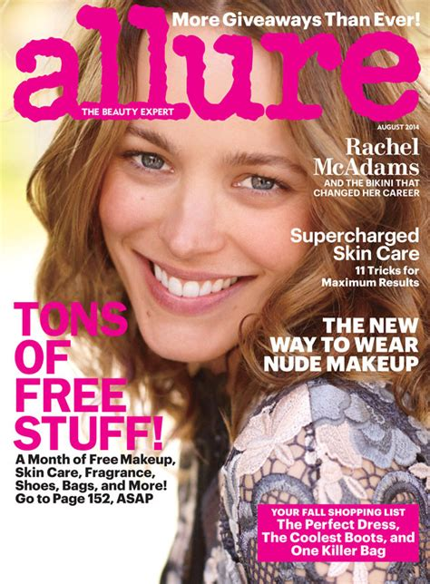 best hair color tested by allure magazine rachel mcadams all natural on the cover of allure
